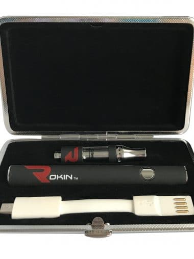 Thunder oil vaporizer pen kit with top airflow cartridge