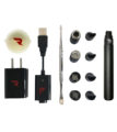Cyclone vaporizer kit with dual quartz and ceramic atomizers