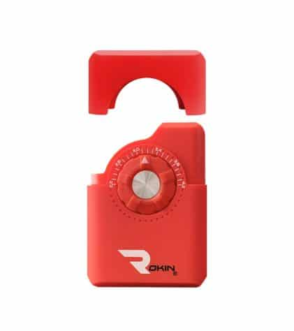 Rokin Dial vaporizer red color assembly view